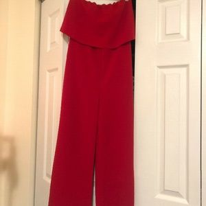 Dresses & Skirts - Red Women's Strapless Jumpsuit from Mendocino